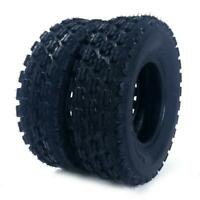 2pcs 19X7-8 SPORT ATV 4-PLY TIRES Tubeless P327 Left,Right, Front speed rating:F