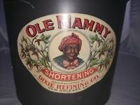 Ole Mammy Shortening Vintage Tin Can - Black Americana Collectible