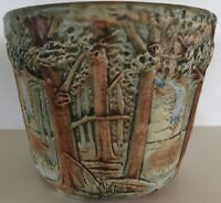 Weller Pottery Forest Jardiniere 6 3/4
