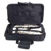 Professional 17Key B Flat Bakelite And Metal Clarinet White With Black Bag