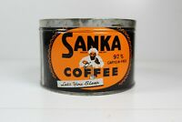 Sanka Coffee Can, 1 Pound, Rare, Great Shape. Great For Decoration,store Display