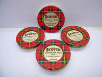 4 VTG SCOTCH CELLOPHANE TAPE Cans UNOPENED Tins Minnesota Mining 5 1/4