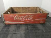 Vintage Coca-Cola Wooden Red Soda Pop Crate Carrier Box case wood coke (16)