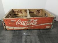 Vintage Coca-Cola Wooden Red Soda Pop Crate Carrier Box case wood coke (21)