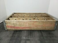Vintage Coca-Cola Wooden Coke Red Soda Pop Crate Carrier Box case wood (26)