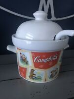 Vintage 2003 Campbell's Soup Tureen / Bowl With Lid & Ladle Campbell Soup Kids