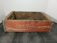 Vintage Coca-Cola Wooden Red Soda Pop Crate Carrier Box case wood coke (28)