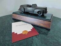 1941 LINCOLN CONTINENTAL BRONZE ON GRANITE & WOOD DEALER AWARD FORD COMMISSIONED