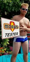 Vintage Rare Moews seed corn Field Tester farm sign Sign Chicken Cow Pig Horse