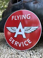 """Antique Vintage Old Style Flying A Gas Oil Sign 40""""!"""