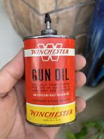 Vintage Winchester Gun Oil Tin Can Advertising Winchester Firearms