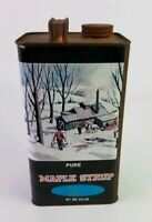 Pure Maple Syrup Vintage Empty One Gallon Tin Can Container Homer, NY USA