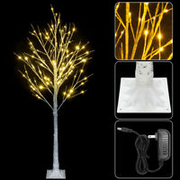 5FT LED Christmas Light Birch Tree Lighted Outdoor Warm White New Year Decor US