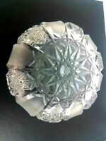 Bohemian Czech? Vintage Cut and etched Crystal 4