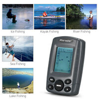 """Fish Finder Portable 2.4""""LCD 240FT Depth Range with Wired Sonar Transducer A9Z8"""