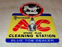 VINTAGE AC SPARK PLUGS +DONKEY IN SHOWER 12
