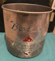 Borden's Richer Malted Milk Metal Container Tin Aluminum Metal Can Vtg