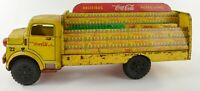 Vintage Original 1950's Marx #22 Litho Tin Toy Coca Cola Delivery Truck Bottles