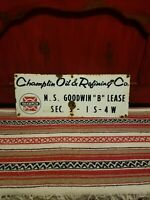 Champlin Gas And Oil Porcelain sign