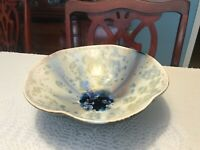 "Bill Campbell Pottery Bowl 11"" Crystalline"