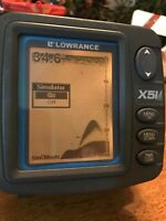 Lowrance X51 Sonar Fish Finder with bracket and power cable, Fast Free Shipping
