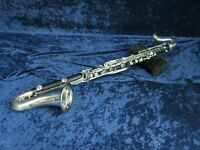 .Bundy Resonite Plastic Bass Clarinet Ser#12677 Plays but Needs an Adjustment.
