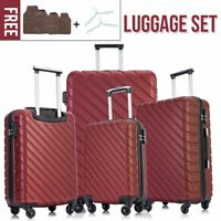 4Pcs Travel Luggage Set Bag ABS Trolley Spinner Suitcase wLock 18202428 inch