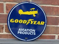 GOOD YEAR AVIATION PRODUCTS vintage style Porcelain Enamel Sign