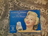 Vintage Marilyn Monroe Tin Sign Lustre Cream Shampoo 12