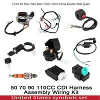 CDI Harness Assembly Wiring Kit for 50 70 90 110 125CC ATV Electric Start QUAD