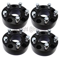 4x 38mm BLACK 5x5 to 5x4.5 Hubcentric Wheel Adapters fits New Jeep to Old Wheels