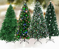 6-8 FT Christmas Trees 1350 Branches 270 LED Lamps Metal Stand Home Xmas Decor