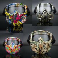 Motorcycle Goggles Mask Over Glasses Vented Dust Wind UV Sand Retro ATV MX