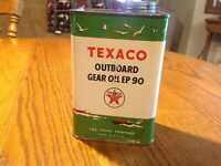 Texaco Outboard Gear Oil Never been Open w/Spout Graphics Outstanding