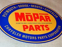 VINTAGE MOPAR PARTS CHRYSLER DODGE PLYMOUTH 12 METAL CAR TRUCK GASOLINE OIL SIGN