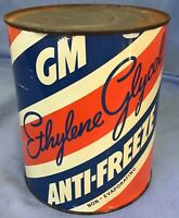 NOS vintage GM ANTI-FREEZE CAN Buick Cadillac Chevy Olds Pontiac oil GAS STATION