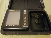 Eagle Supra Pro I.D. Depth Fish Finder Display Head ONLY No Cord, In Hard Case