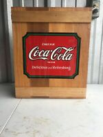 Vintage Authorized Coca Cola Box Wooden Cabinet With Shelves Box