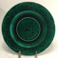 Antique French Majolica Plate by Sarreguemines 150 Years Old