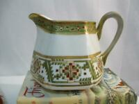 NIPPON Vintage DECO Six Sided Hand Painted Pitcher - Collectible Vintage Pitcher