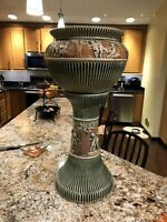 Roseville Pottery Huge Donatello Jardiniere Pedestal 33 In Tall Wow Factor