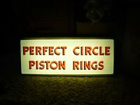 Rare Perfect Circle Piston Rings Sign Light Works Approximately 25