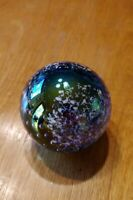 GES Glass Eye Studios Purple Blue Tree Art Glass Paperweight 1995