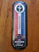 1960s Ford Mustang Oversized Thermometer Mustang Tin Sign