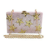 vintage design acrylic clutches evening bag wedding party luxury shoulder bags