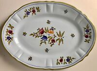 ITALIAN FAIENCE HAND-PAINTED OVAL SERVING PLATTER