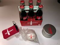 Lot Set of 4 125 Years of Coca-cola Coke commemorative bottles,watch,ball,ect