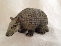 UC CTI Made in Japan Pottery Clay Figural Armadillo  7