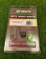 XS Sights DXT2 Big Dot Night Set S&W M&P 380 Shield EZ, Yellow - SW-0031S-5Y