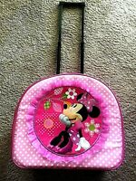 Disney Store Minnie Mouse Pink Rolling Child's Carry-on Luggage Wheeled Suitcase